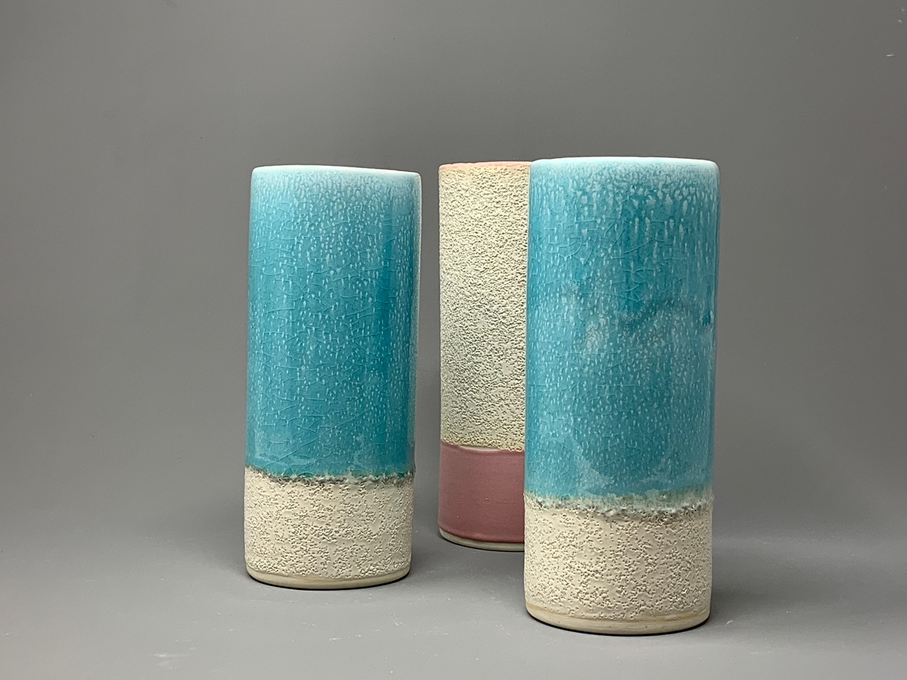 Sea Green cylinder vase