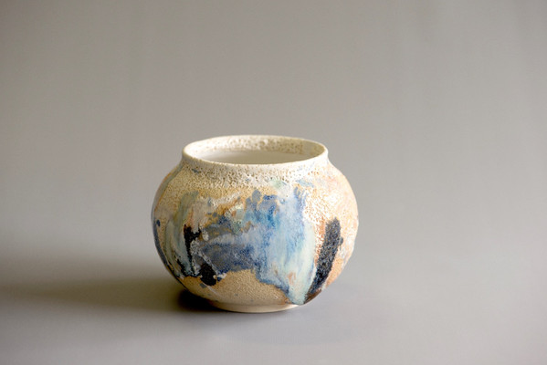 Abstract blue coloured Vessel
