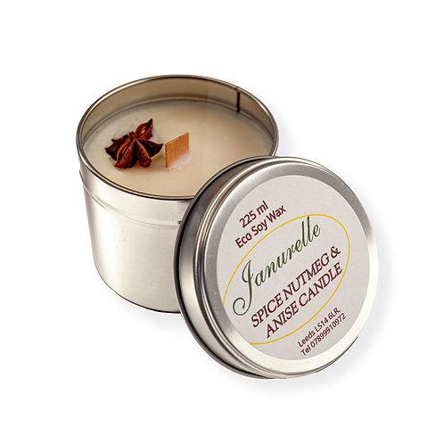 Spiced nutmeg & anise star candle