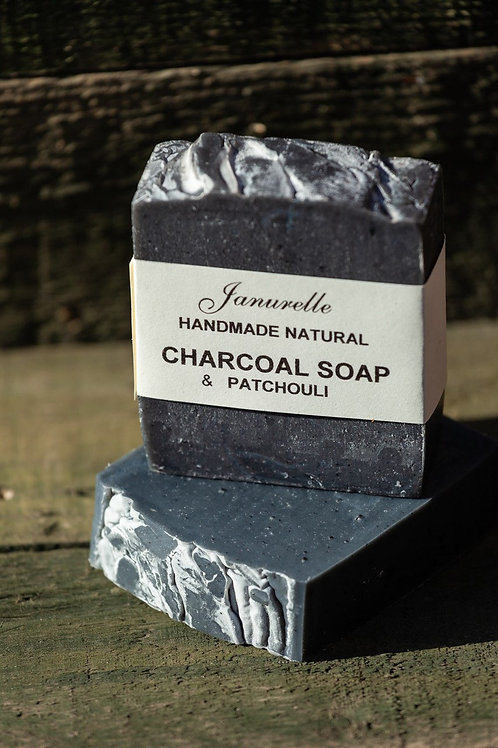 Charcoal and patchouli soap