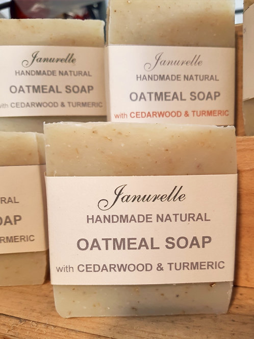Oatmeal and cedarwood soap
