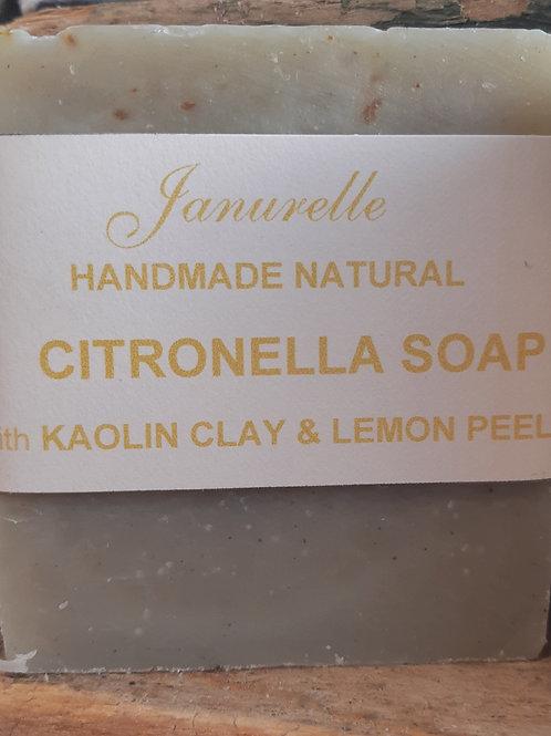 Citronella and kaolin clay soap