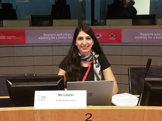 ARTISAN presented by Rania Labaki  at the European Week of Regions and Cities – EER workshop