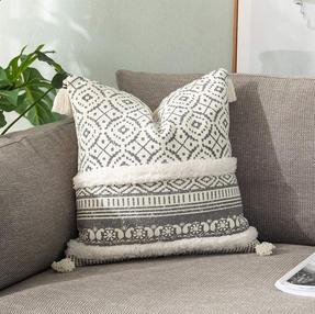 Boho neutral pillow cover