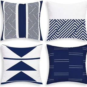 Geometric Navy Pillow Case Set