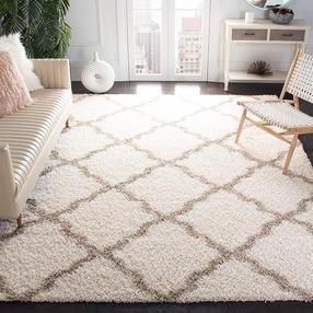 Ivory and beige shag rug 8x10