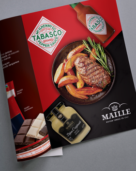 Anúncio Tabasco e Maille