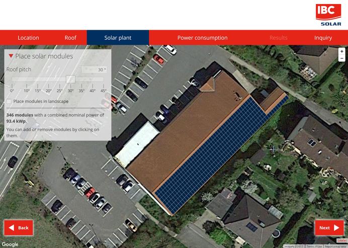 Калькулятор сонячної енергії IBC Solar