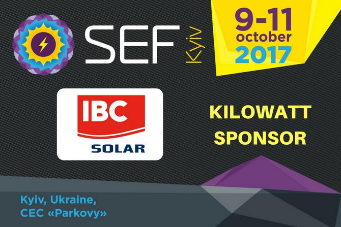 IBC SOLAR joins SEF-2017 KYIV as a Kilowatt Sponsor