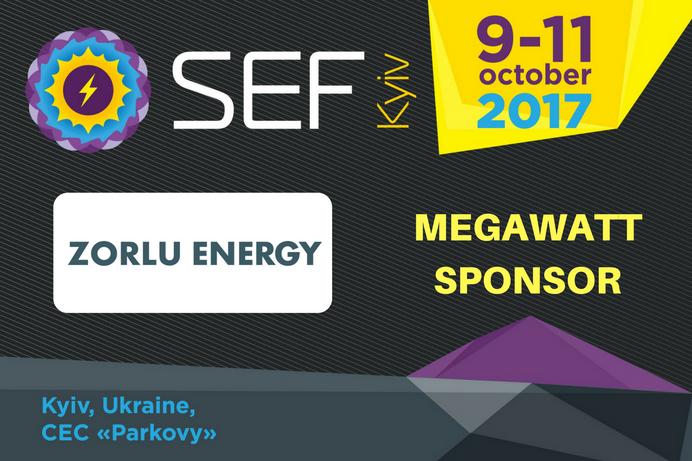 Zorlu Energy joins SEF-2017 KYIV as a Megawatt Sponsor