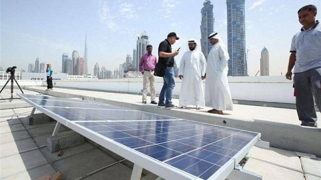 The largest roof solar station is built in Dubai