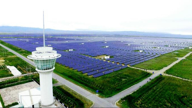 The world's largest solar park will be built in China