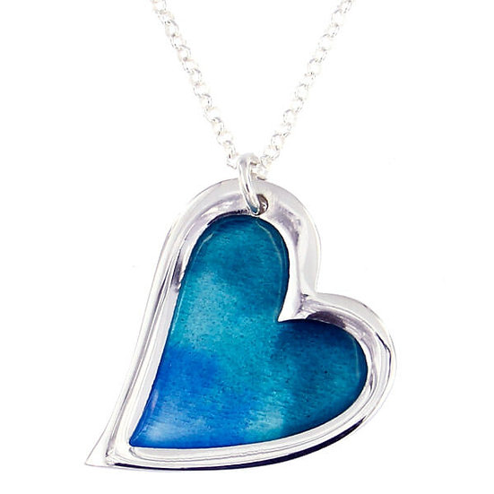 Kara Heart enamelled Pendant