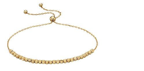 Yellow Gold Diamond Cut Bead Bracelet
