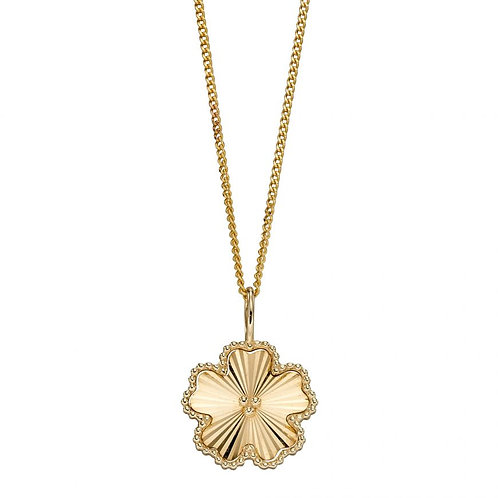Flower Pendant in Yellow Gold