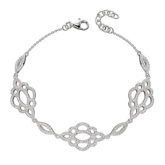 Lace effect Zirconia bracelet