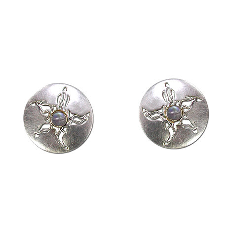 Sea Stars Round Stud Earrings