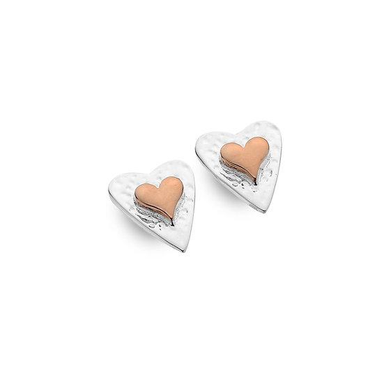 Forever Heart Studs or Drop Earrings