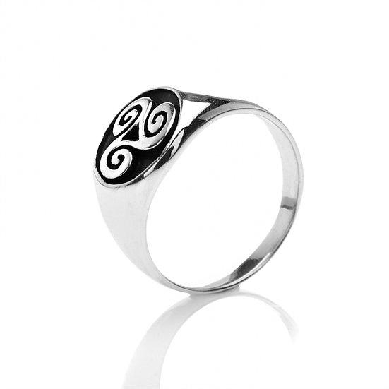 Celtic Knot Signet Ring, Large/Mens
