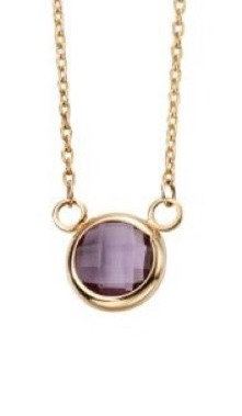 Round Necklace with Amethyst or Blue Topaz