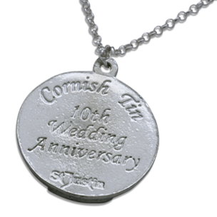 St Christopher 10th anniversary pendant-Tin