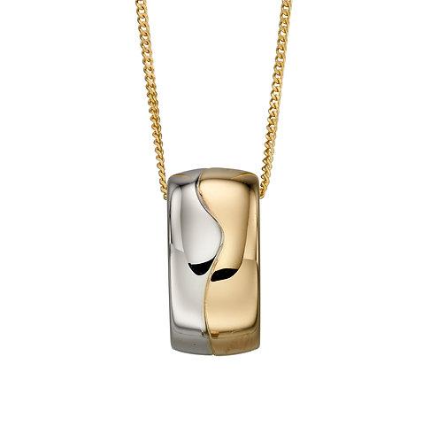 Multi Gold Barrel Pendant