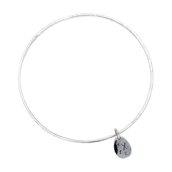 "Silver ""Care"" Bangle, choice of Charms"