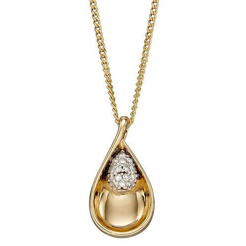 Teardrop Diamond Pendant
