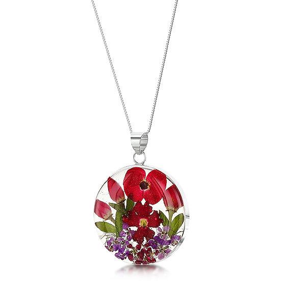 Bohemia Poppy & Rose Necklace, choice of styles