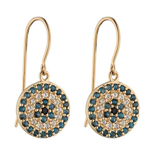 Evil Eye Earrings with Semi-Precious Stones