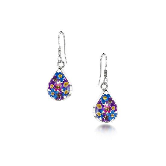 Purple Haze Flower Earrings, choice of styles