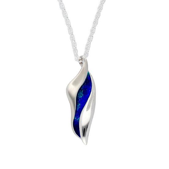 St Justin Glas Mor Downder enamelled pendant
