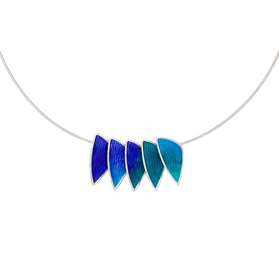 Silver Glas Mor Carrick enamelled pendant, choice of sizes