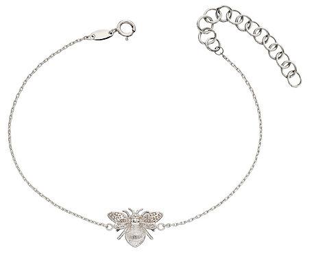 White Gold Bee Bracelet