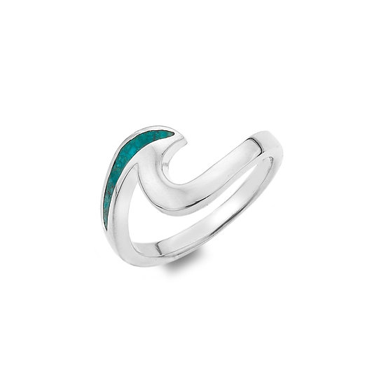 Gwynver Turquoise Wave Ring