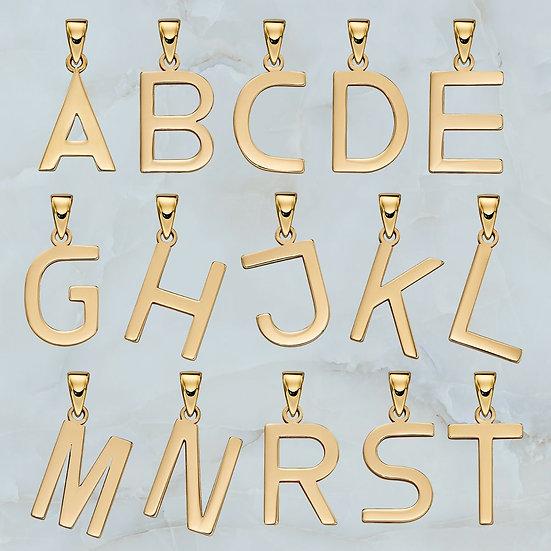 Alphabet Pendant, 9ct Gold