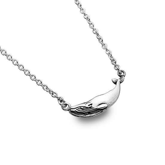 Small Silver Whale Necklace