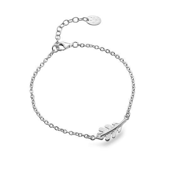 Silver Oak Leaf Bracelet