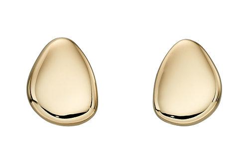 Yellow Gold Pebble stud Earrings
