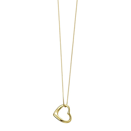 Gold Plated Slip on Heart Pendant