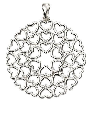 Large Multi Heart Disc Pendant