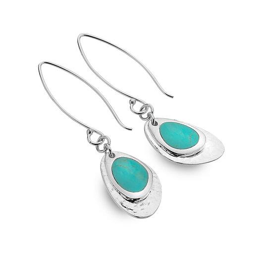 Rockpool Cove earrings, Turquoise or Paua Shell