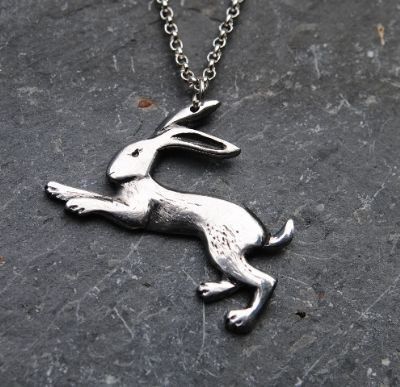 Hare Pendant, pewter