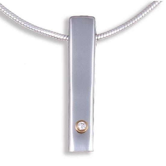 Diamond Bar pendant, Cornish Tin