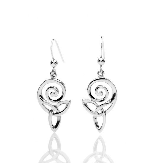 Celtic Spiral and Knot Earrings