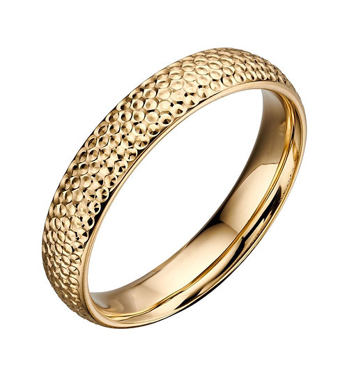 Textured Ring, 9ct Gold