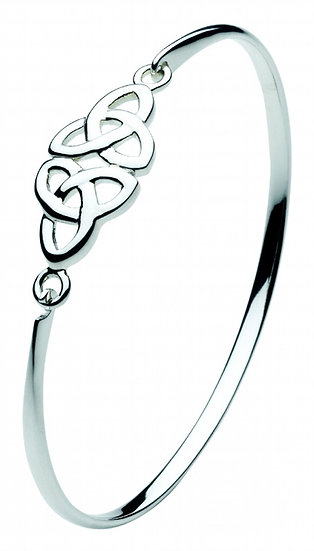 Celtic Double Trinity Knot Bangle