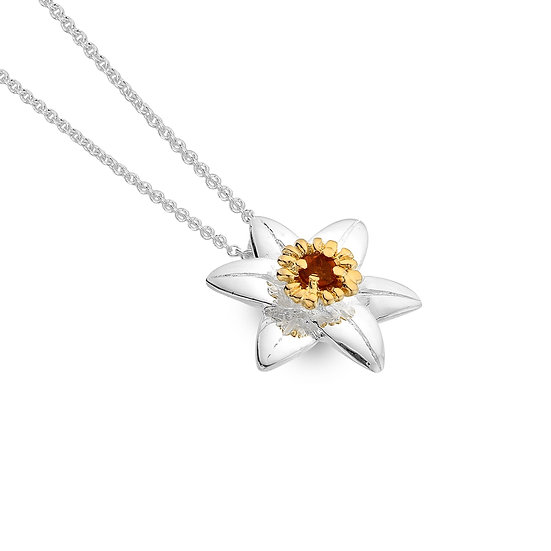 Daffodil Pendant with Citrine