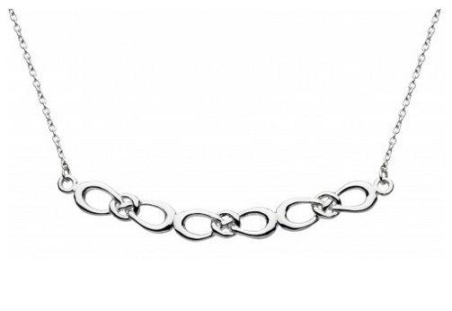 Celtic Silver Morgana Triple Bow Necklace
