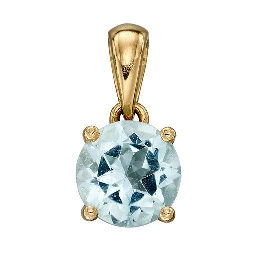Gold Birthstone Pendant